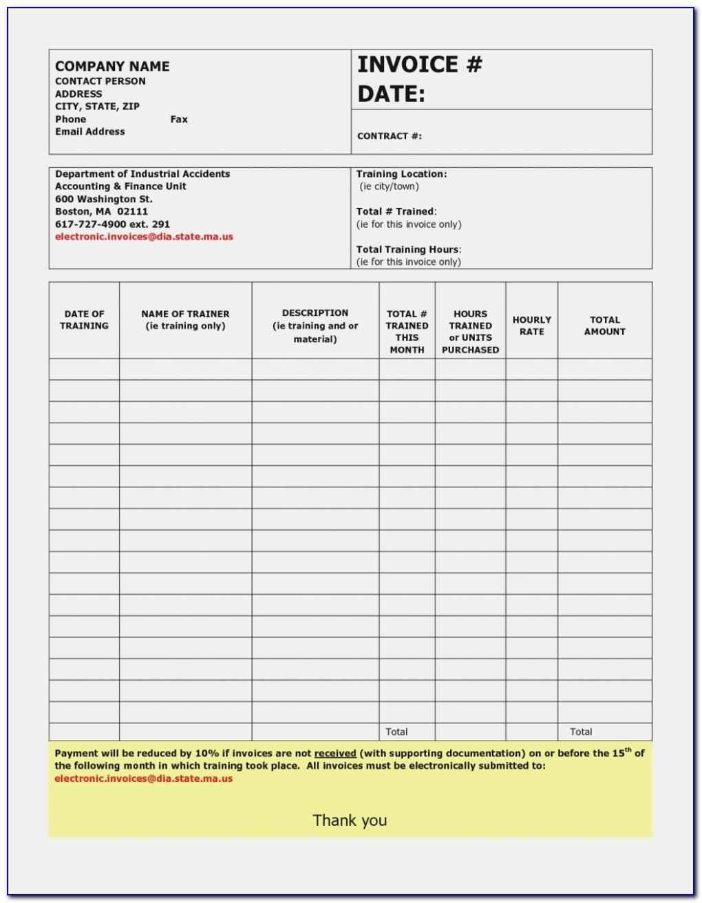 Handyman Invoice Template Xls