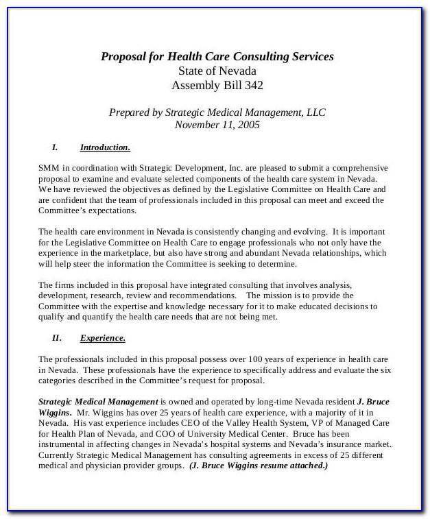 Health Insurance Rfp Templates