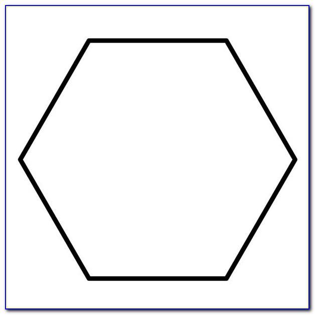 Hexagon Quilt Template Free