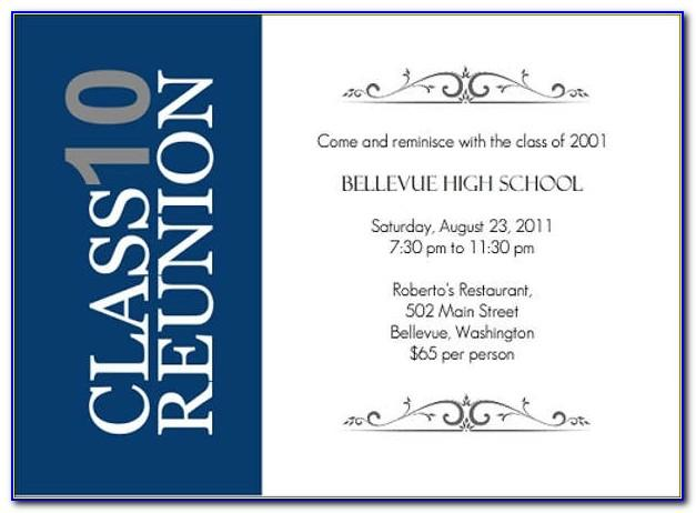 High School Reunion Invitation Templates Free