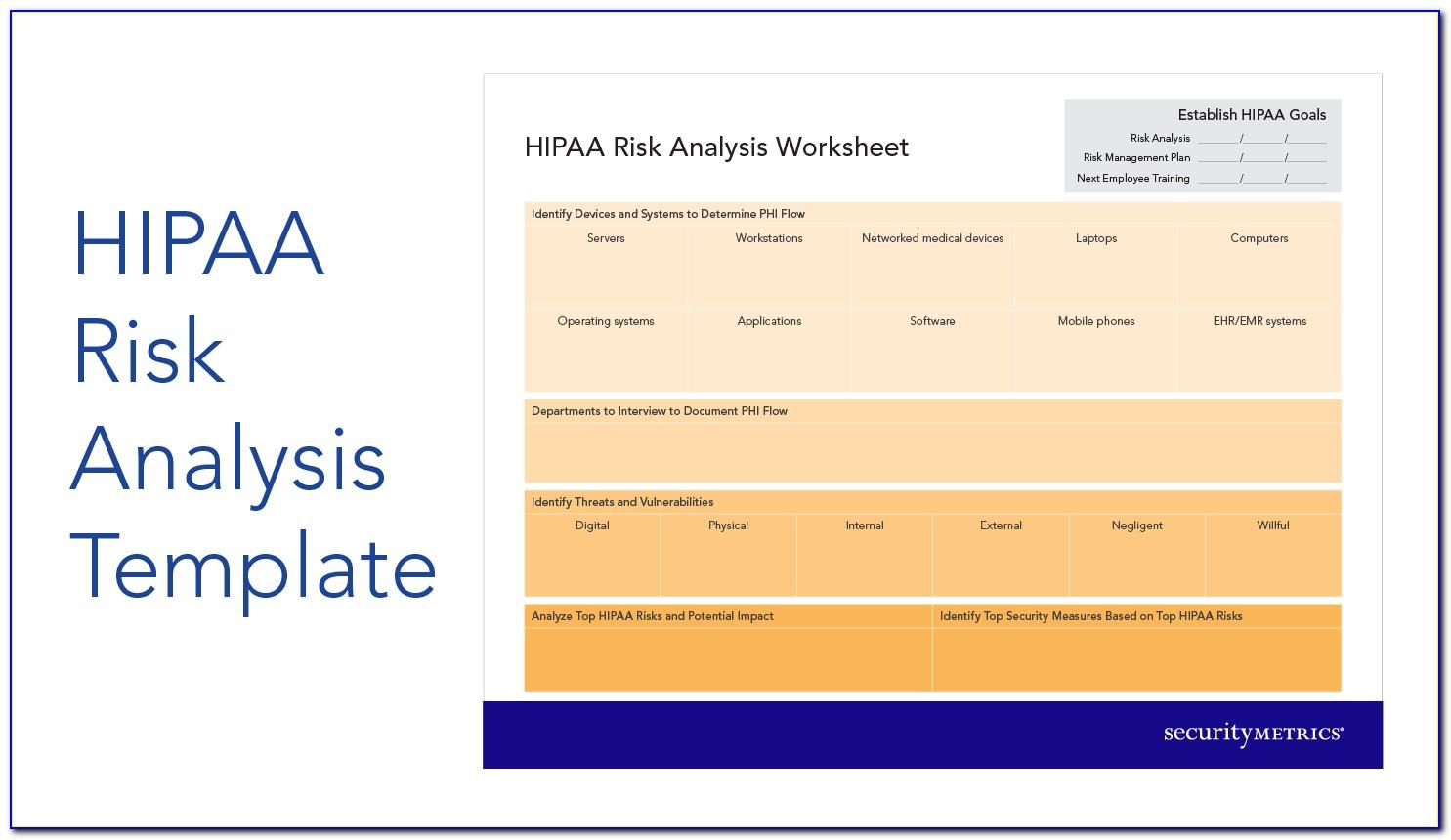 Hipaa Security Risk Assessment Template Free