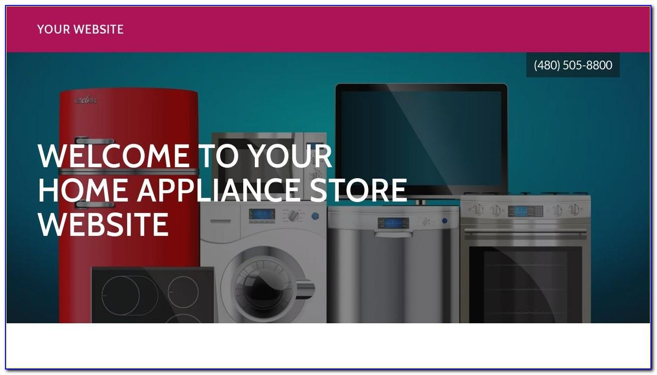 Home Appliances Website Template Free Download