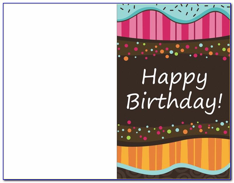 Hp Half Fold Greeting Card Template
