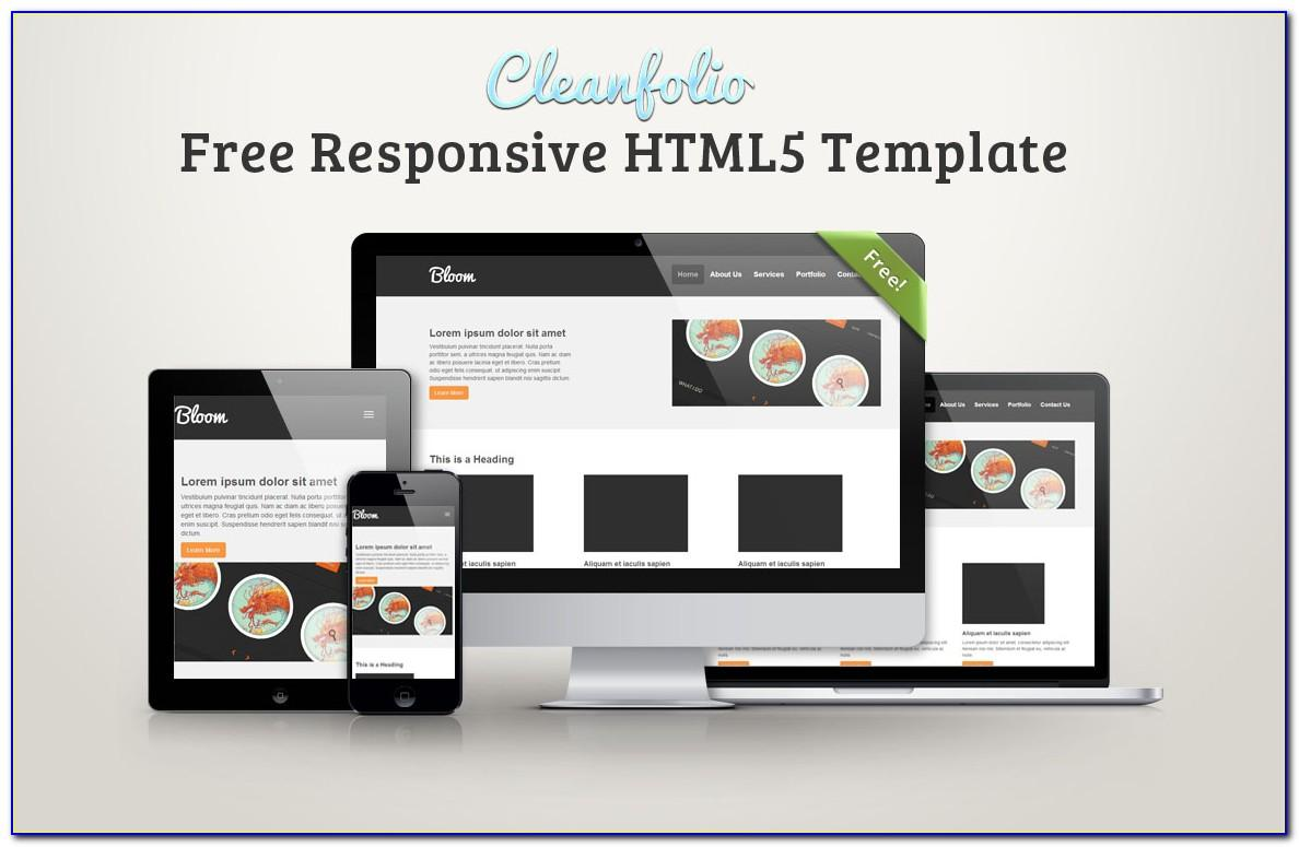 Html5 Responsive Website Templates Free