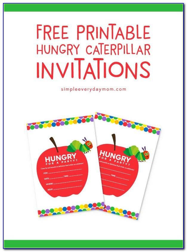 Hungry Caterpillar Birthday Invitation Template