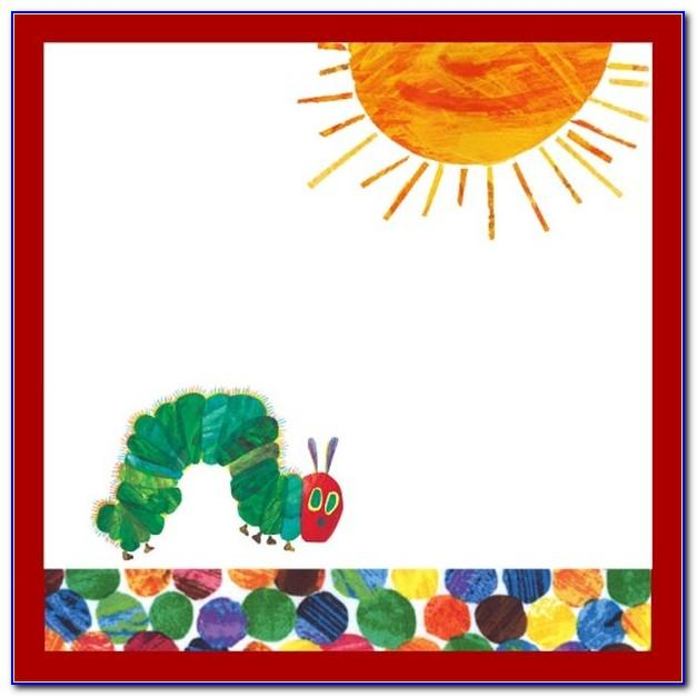 Hungry Caterpillar Party Invitation Template
