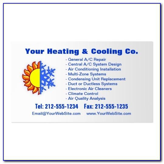 Hvac Business Card Template
