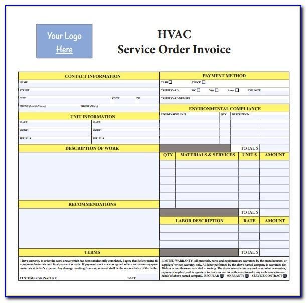 Hvac Invoices Forms