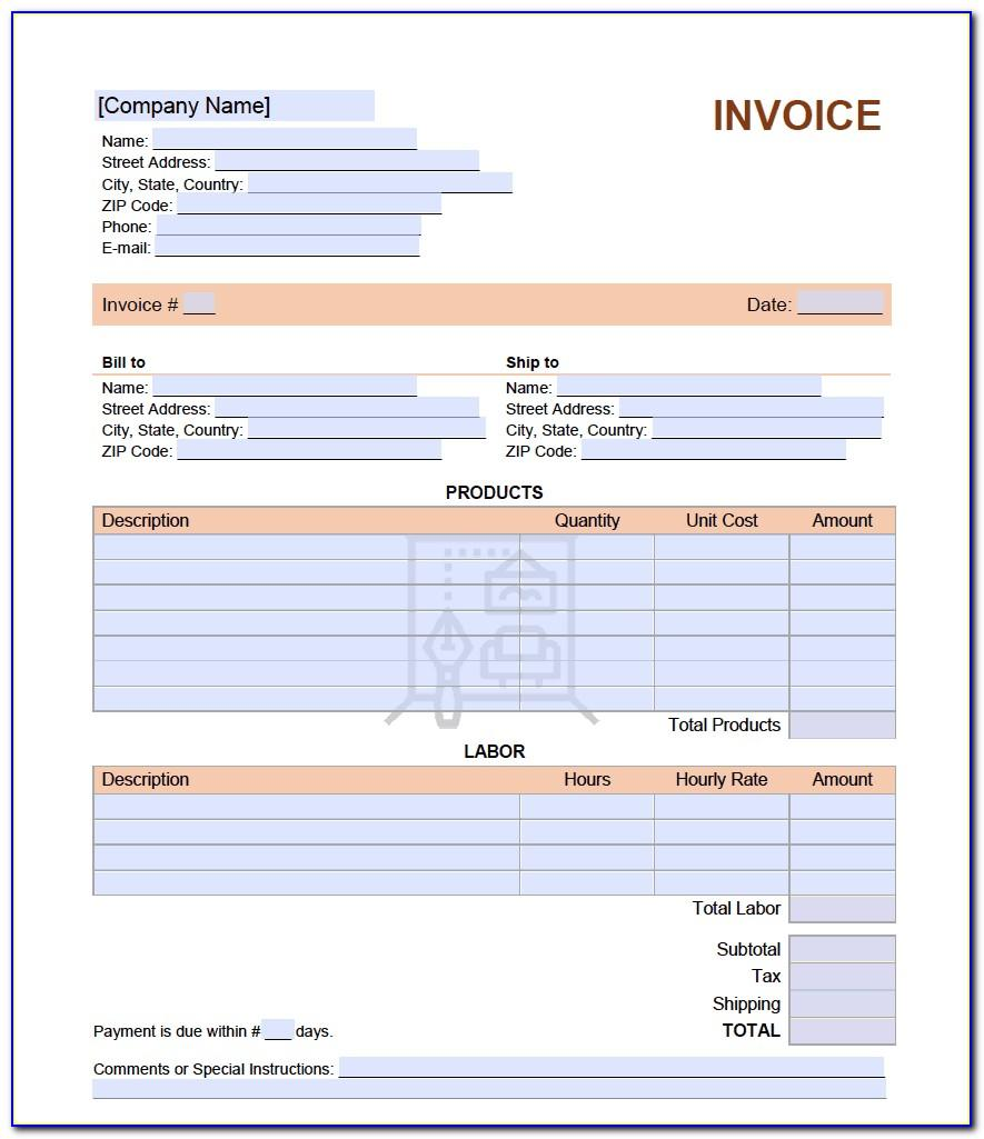 Interior Design Invoice Example