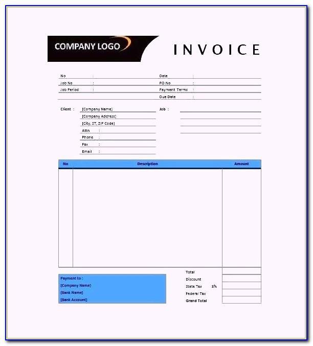 Interior Design Invoice Template Excel