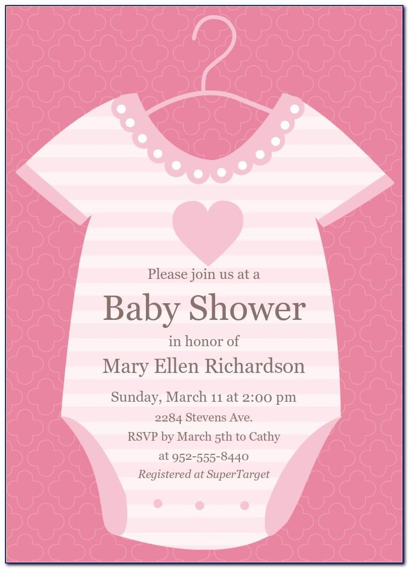Invitation Cards Designs For Baby Shower