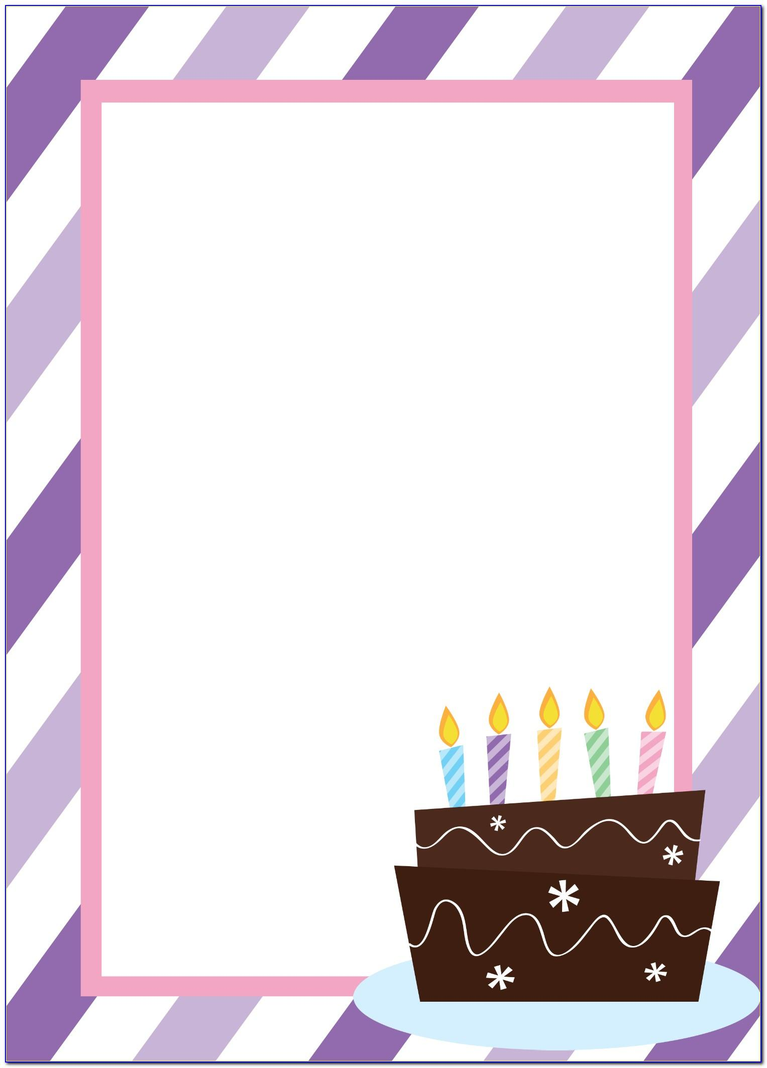 Invitation Template For Birthday Free