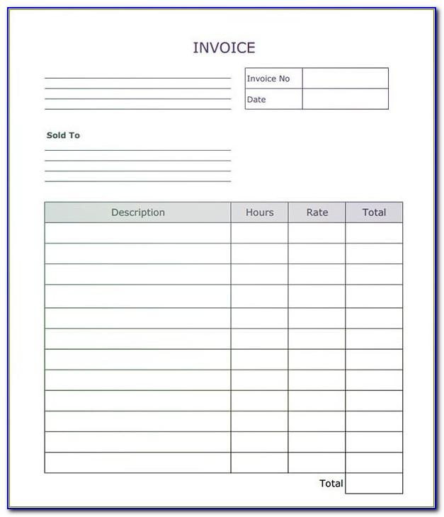 Invoice Template Pdf Fillable Free