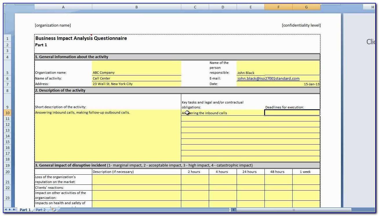Iso 27001 Gap Analysis Example