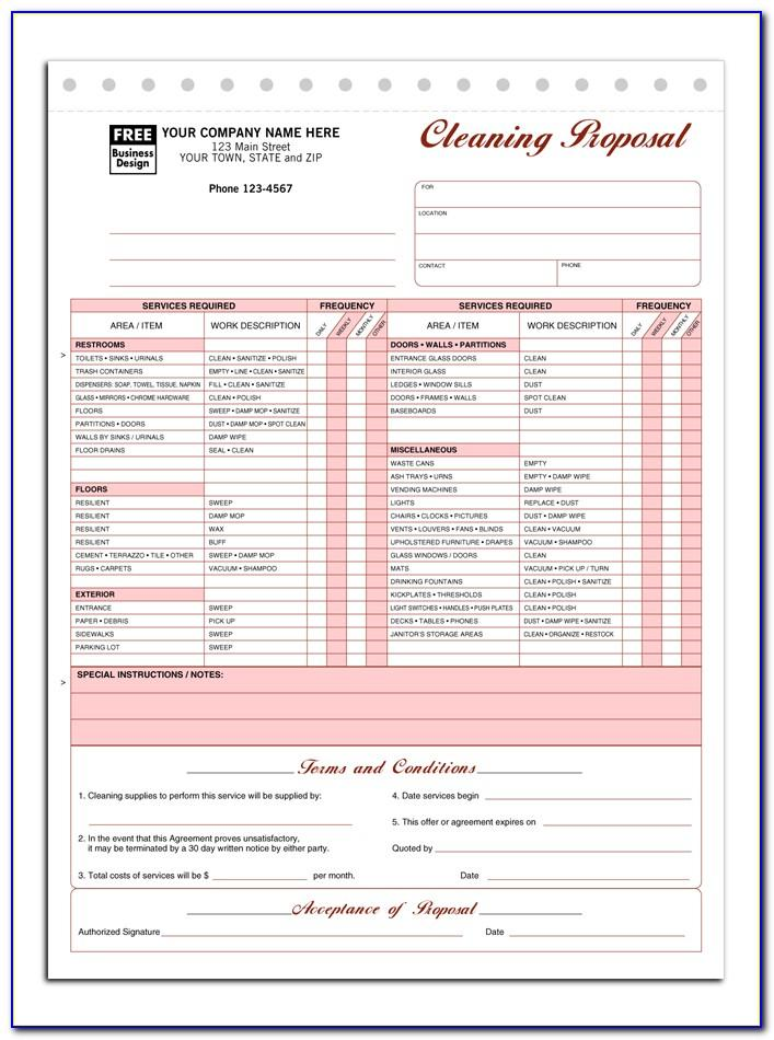 Janitorial Proposal Template Pdf