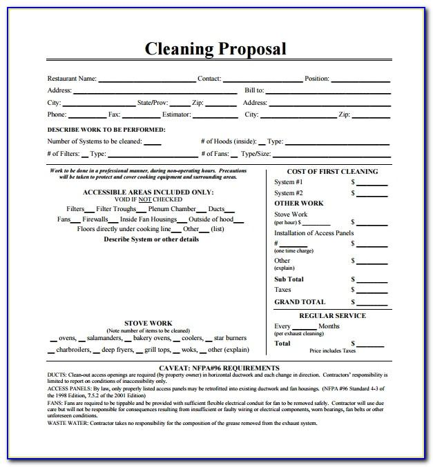 Janitorial Services Proposal Template