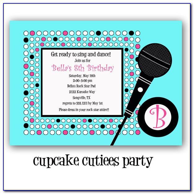 Karaoke Party Invitation Templates Free