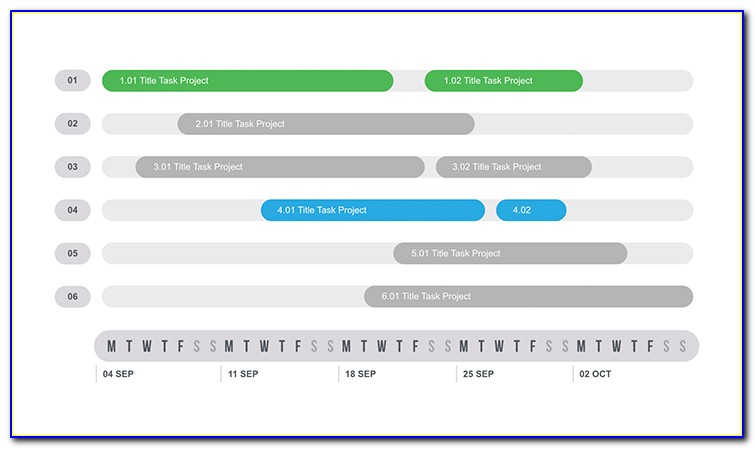Keynote Gantt Chart Template Free