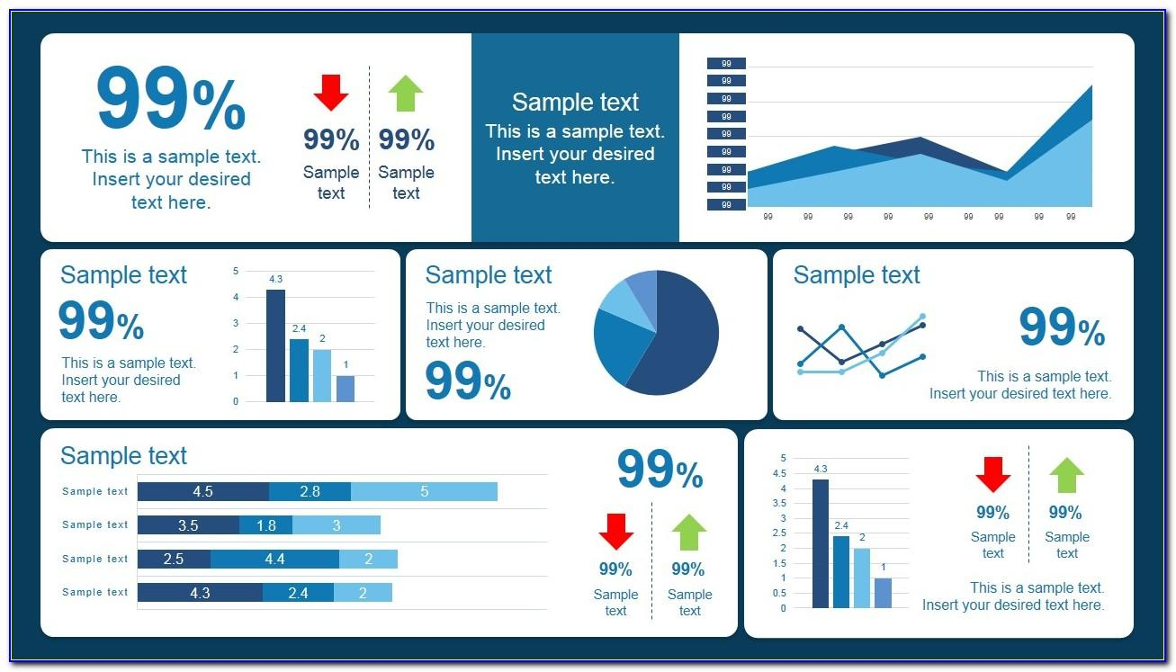 Kpi Dashboard Powerpoint Template Free