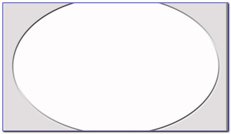 Large Oval Drawing Template