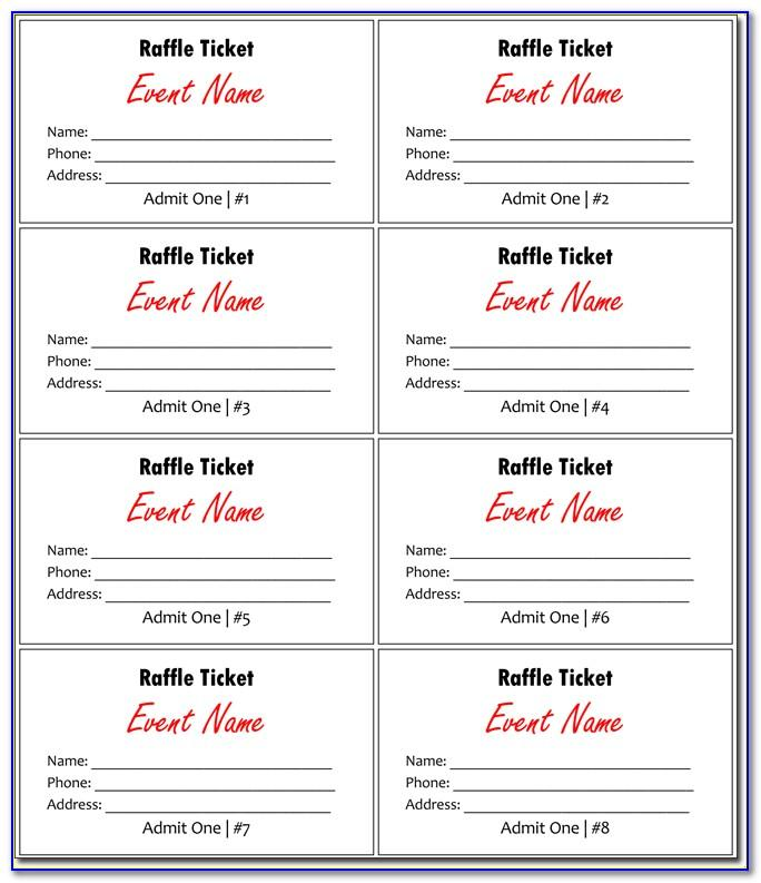 Lucky Draw Ticket Template Serial Numbers