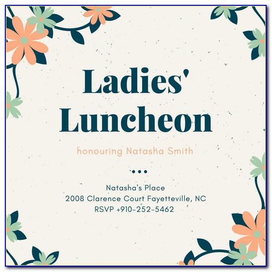 Luncheon Invitation Samples