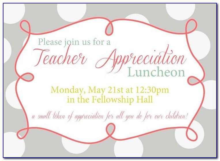 Luncheon Invitation Templates