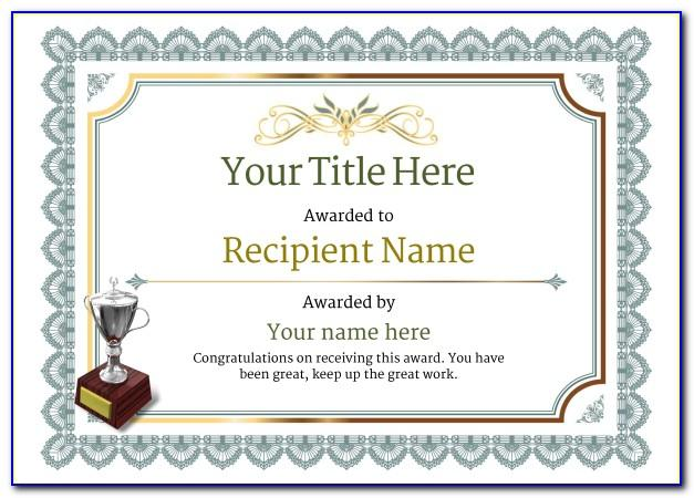 Martial Arts Certificate Template Free