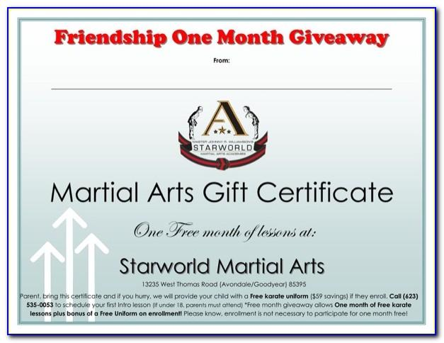 Martial Arts Certificate Templates Vector Download