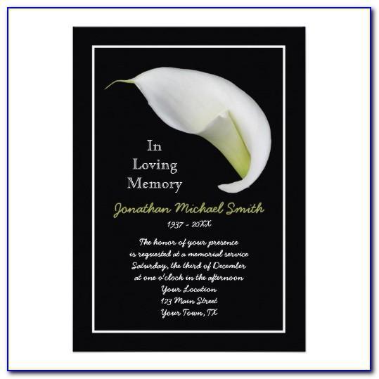 Memorial Announcement Template
