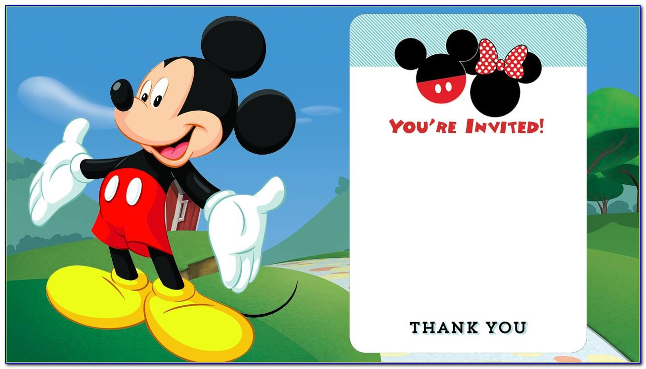 Mickey Mouse Birthday Invitation Editable