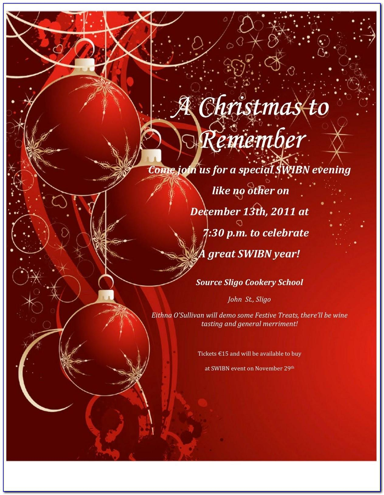 Microsoft Christmas Invitations Templates Free