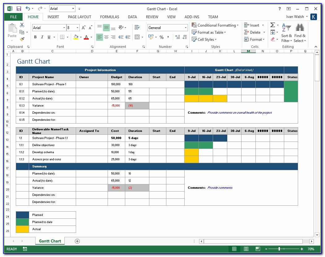 Microsoft Excel Project Plan Template Download