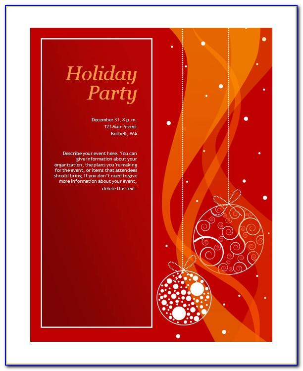Microsoft Holiday Invitation Templates