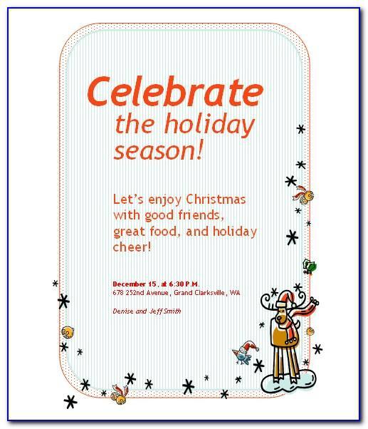 Microsoft Word Holiday Invitation Template
