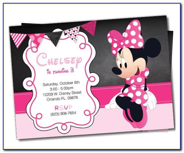 Minnie Birthday Invitation Template