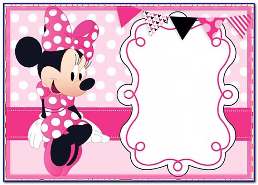 Minnie Mouse Birthday Invite Template Free