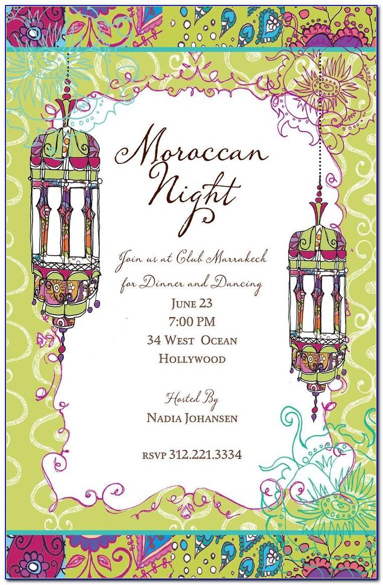 Moroccan Party Invitations Templates