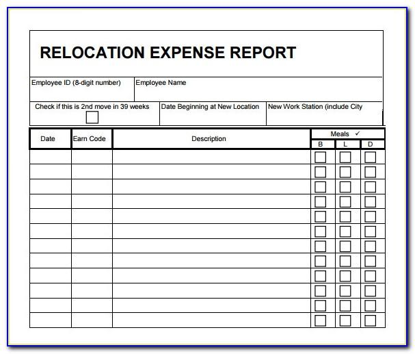 Moving Budget Spreadsheet Template Excel