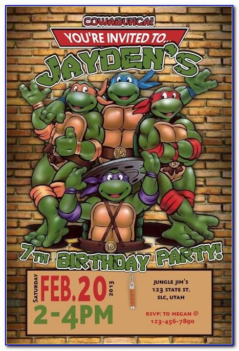Ninja Turtle Party Invite Template