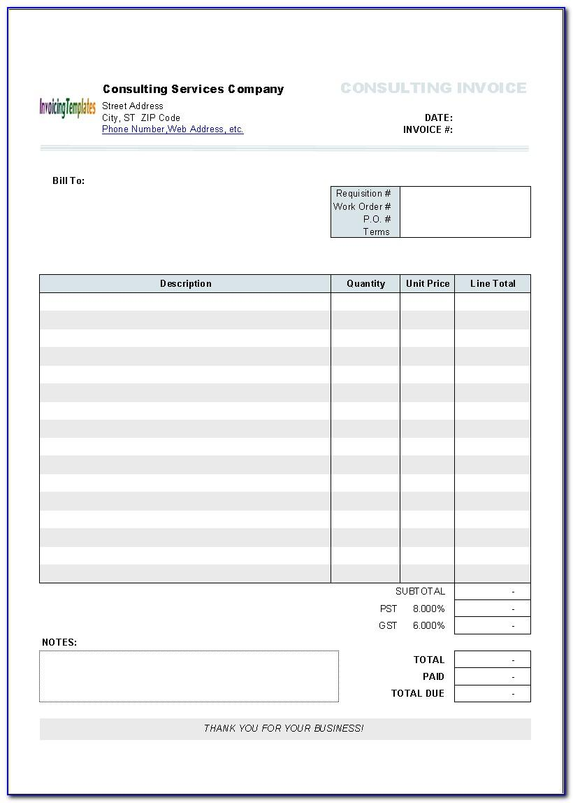 Numbers Invoice Template Mac