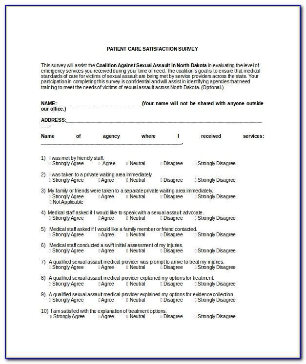 Nursing Home Resident Satisfaction Survey Template