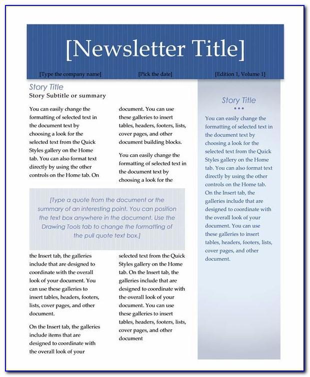 Office 365 Newsletter Templates