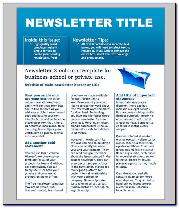 Office Newsletter Template