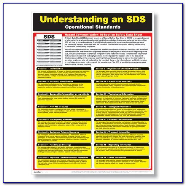 Osha Safety Data Sheet Template