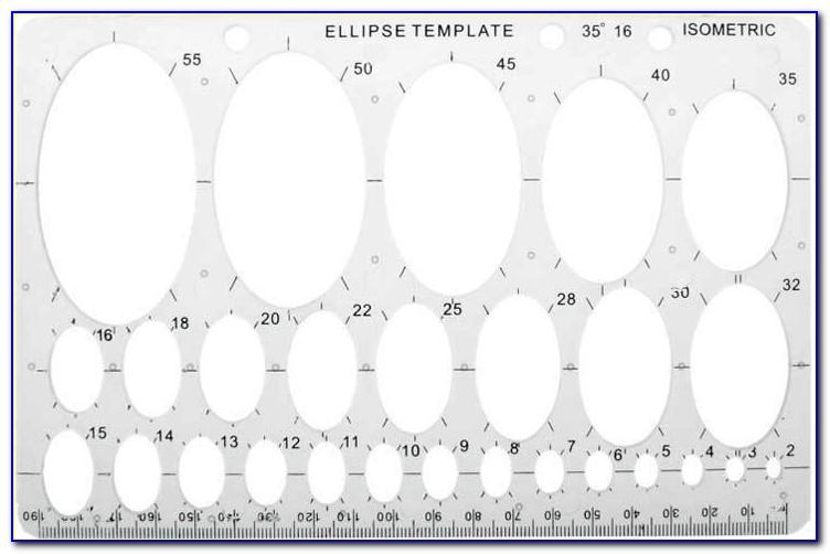 Oval Drawing Template