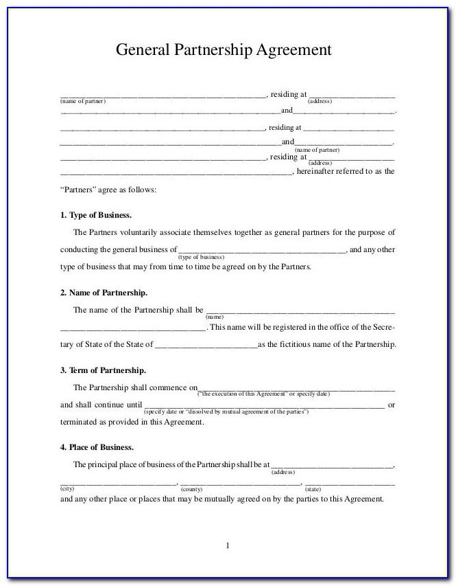Partner Agreement Templates