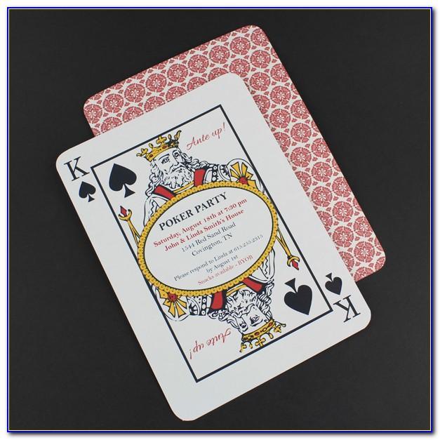 Poker Invitation Template Free Download