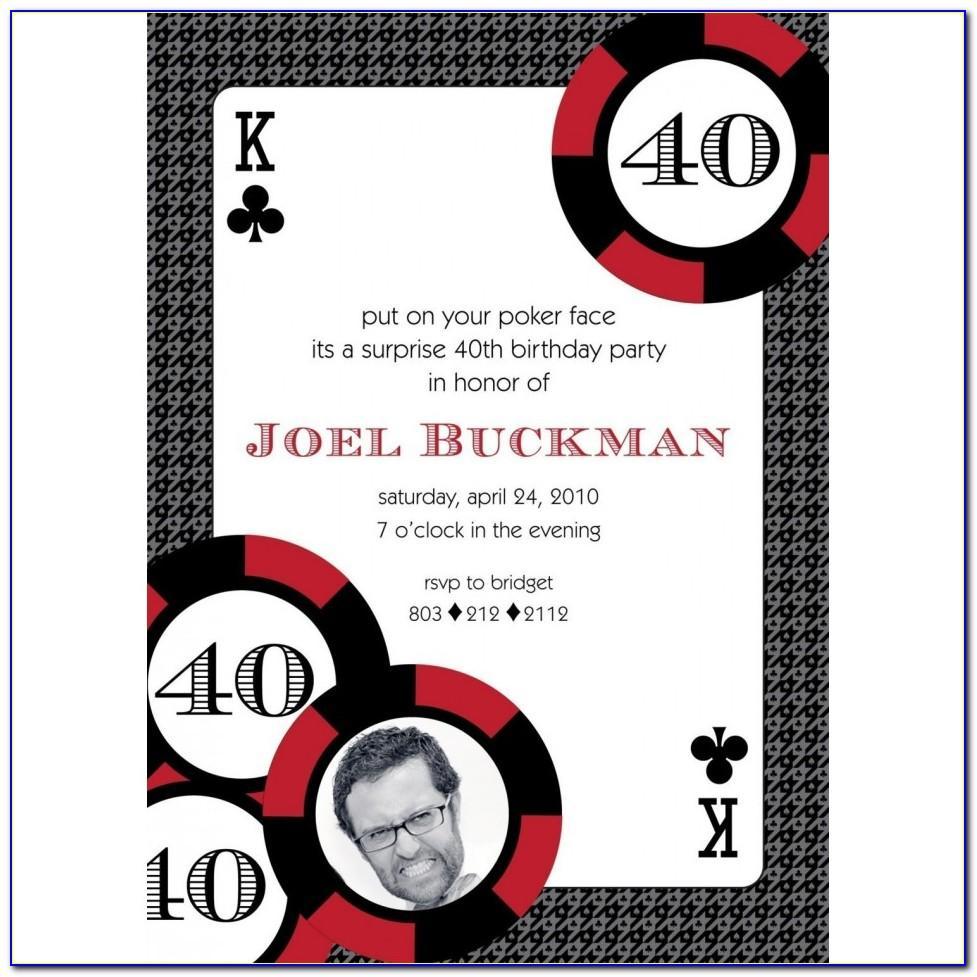 Poker Night Invitation Template Free