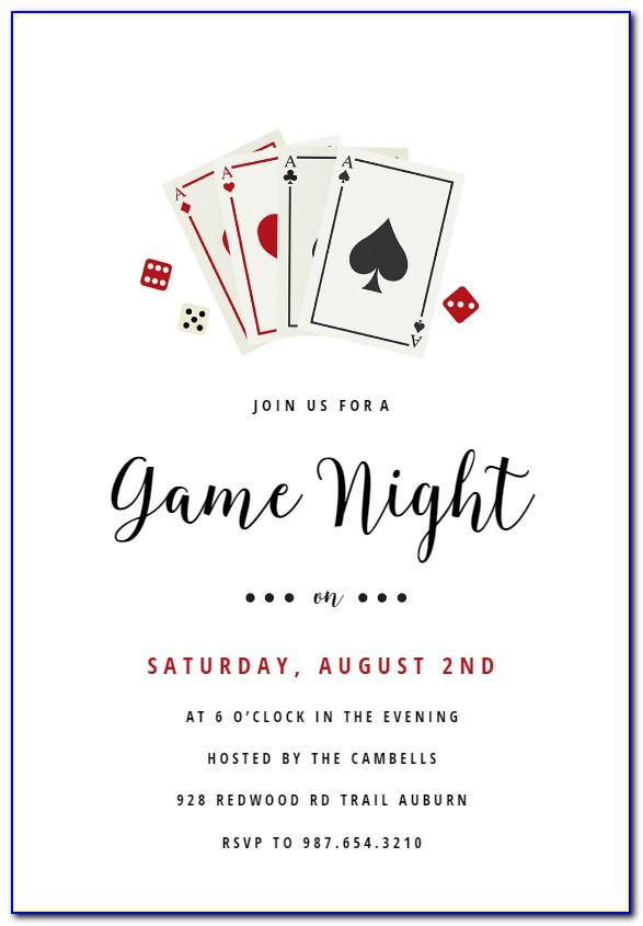 Poker Party Invitation Template Free